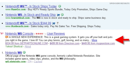 Yahoo search for Wii .jpg
