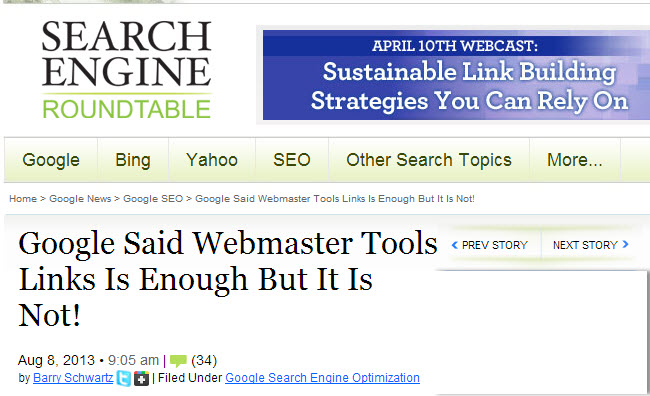 Google Said Webmaster Tools Links Is Enough But It Is Not!