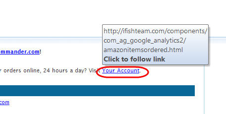 Hover your mouse over the My Account link to see where it really goes...