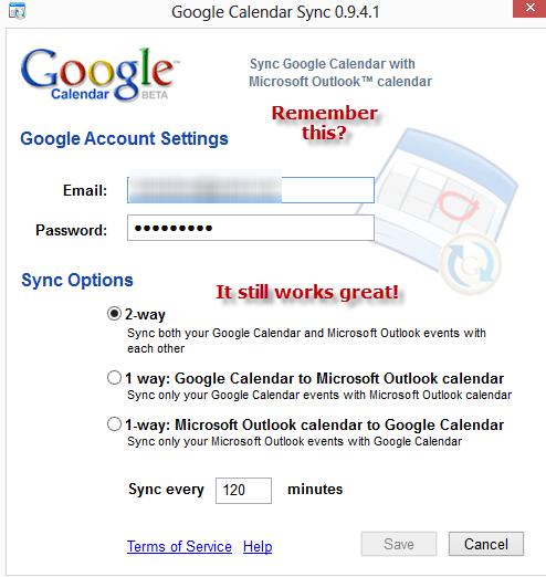 Google  - Outlook Calendar Sync
