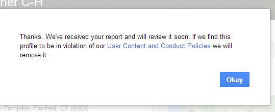 Report Fake Google Review Profiles